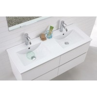 Vanity - Asron Series 1200mm White Double