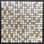 Glass And Carving Resin Mosaic Tile - White and Brown