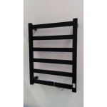 Heated Towel Rail 6 Bar Thick Square Black