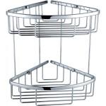 Chrome 2 Tier Double Shower Caddy Shelf Y104