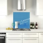 Glass Splash Back 900x750mm Blue