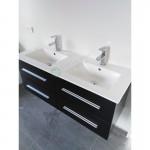 Vanity - Misty Series 1200 Black Double Basin