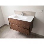 Vanity - LEISURE Series 750 Walnut Veneer