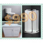 Bathroom Combo With 700mm Aluminum Alloy Cabinet