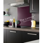 Glass Splash Back 900x750mm Purple