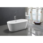 Free Standing Acrylic Bath Oval 6812 1720mm