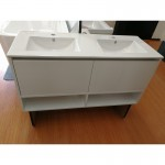Vanity- Poli Series 1200 White Double