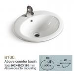 Ceramic Inset Vanity Counter Top Basin Sink 500mm