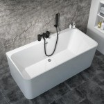 Bath Tub Marino Series 1700x730x560mm Acrylic Straight Single Square Ended