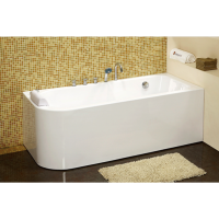 Bath Tub Carona Series 1700x800x600mm Acrylic Straight Single Curved Ended