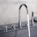 Bathtub mixer tap / countertop mixer tap Cross head 25003