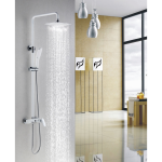 Shower Mixer With Diverter & Overhead - Hola Series Chrom And White Colour MW01