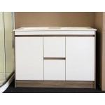 Vanity Floor Standing Plywood - 1200mm Light Brown & Glossy White