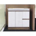 Vanity Floor Standing Plywood - 900mm Light Brown & Glossy White