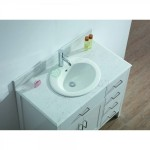 Vanity - Virtu Series 1000 White Quartz Stone Counter Top Set