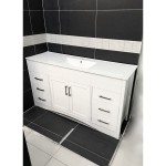 Vanity - Misty Series 1500F White Single Ceramic Basin