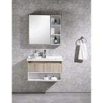 Vanity - Poli Series 900 Wood Grain And White - 100% Water Proof