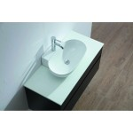 Vanity - Poli Series 900 White Quartz Stone Counter Top Set - Oval Basin