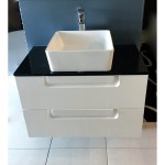 Vanity - Kayle Series 800 Black Quartz Stone Counter Top Set
