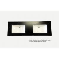 Vanity Top - 1500mm Black Sintered Stone Top (Double basin)