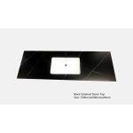 Vanity Top - 1500mm Black Sintered Stone Top (single basin)