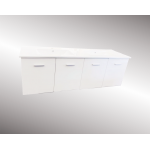 Vanity - Misty Series A1500 White With Double Ceramic Basin