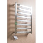 Heated Towel Rail Square 8 Bar Thick ETW13-1 Left