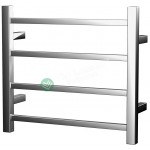 Heated Towel Rail Square 4 Bar ETW13-2 Left