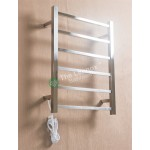 Heated Towel Rail Square 6 Bar ETW13 Left