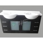 Vanity - Catania Series 1500 Black Double Basin