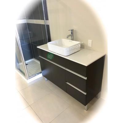 Vanity - Heron Series 1200 White Quartz Stone Counter Top Set