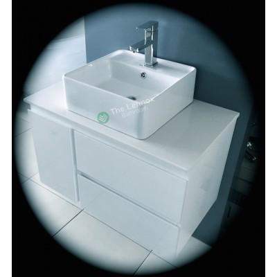 Vanity - Asron Series 800 White Quartz Stone Counter Top Set
