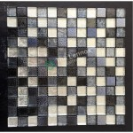 Glass And Carving Resin Mosaic Tile - Grey