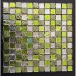 Glass And Carving Resin Mosaic Tile - Green