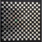 Glass And Carving Resin Mosaic Tile - Black and White