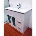 Vanity - Misty Series 800F White with Glass Doors